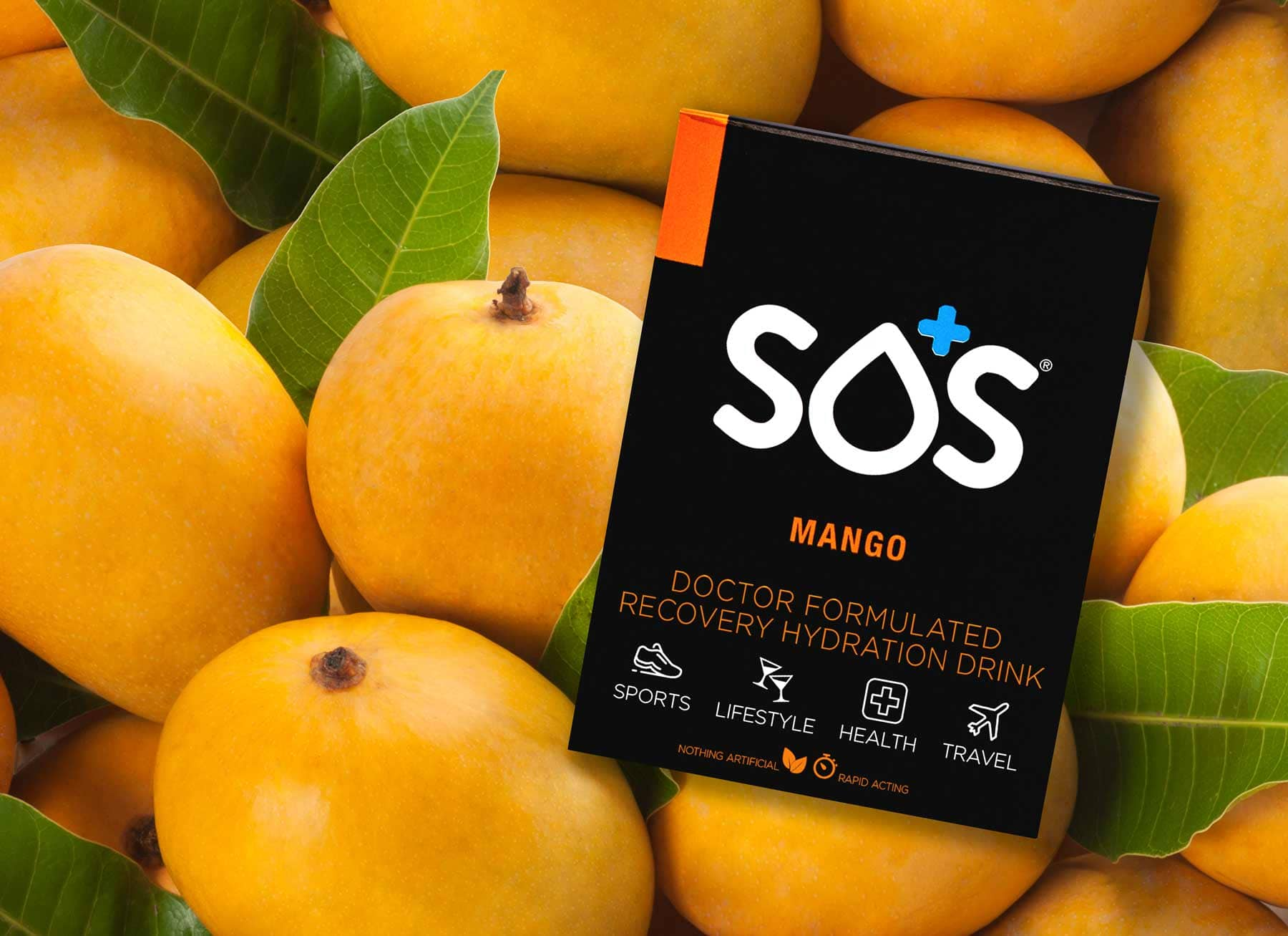 SOS Hydration Mango Sports Drink Powder Mix