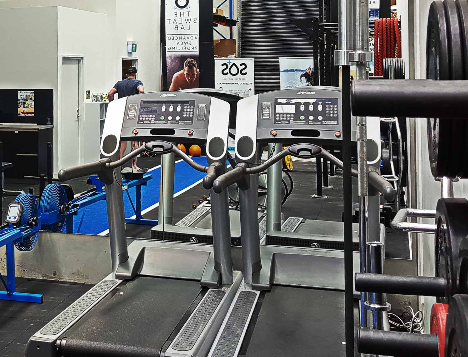 Being active in the sweat lab faciliy in Melbourne Australia