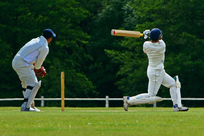 Cricket Player on Field