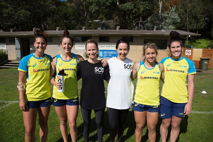 Womens Health Staff and Australian Rugby 7s