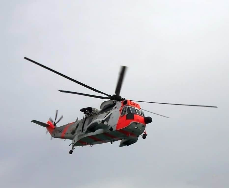 A Sea King helicopter rescued Anna Bagenholm