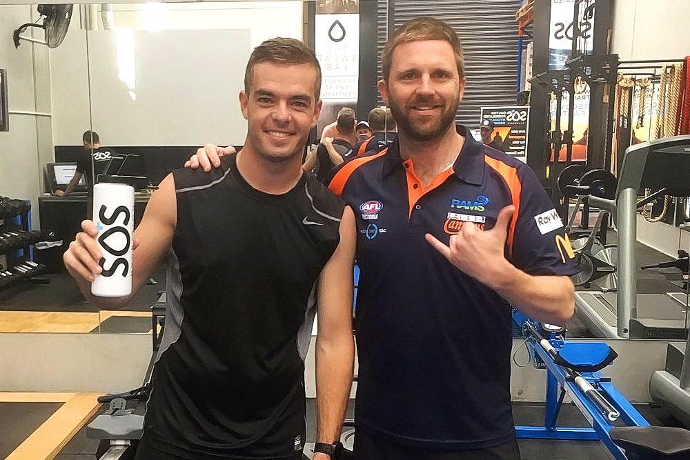 Scott McLaughlin with SOS Hydration Andrew Shaw
