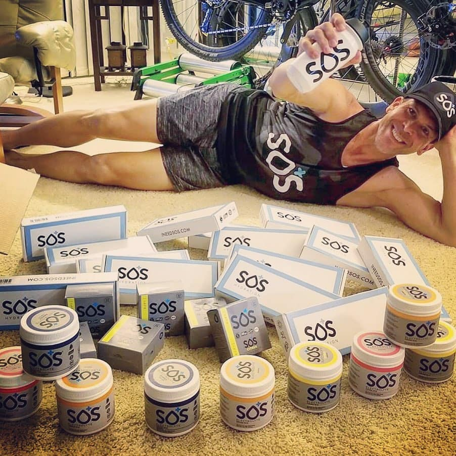 Triathlete with SOS Electrolyte Drink
